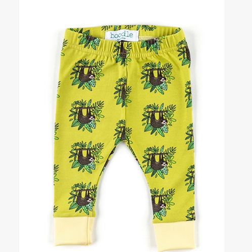 Sloth organic baby leggings