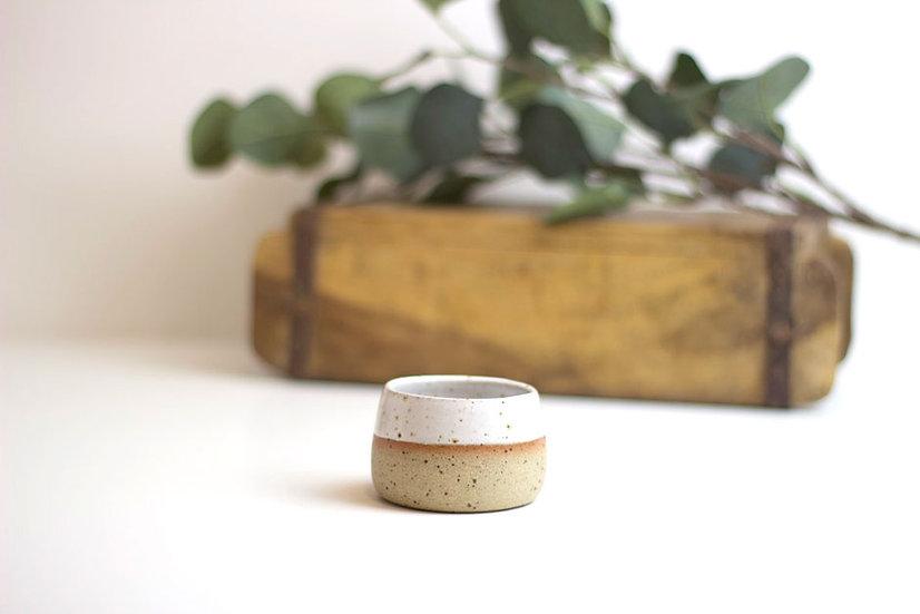 Handthrown Ceramic Espresso Cup - White