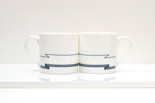 Dazzle Waves Bone China Mug