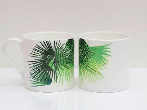 Tropical Cabbage leaf Bone China Mug
