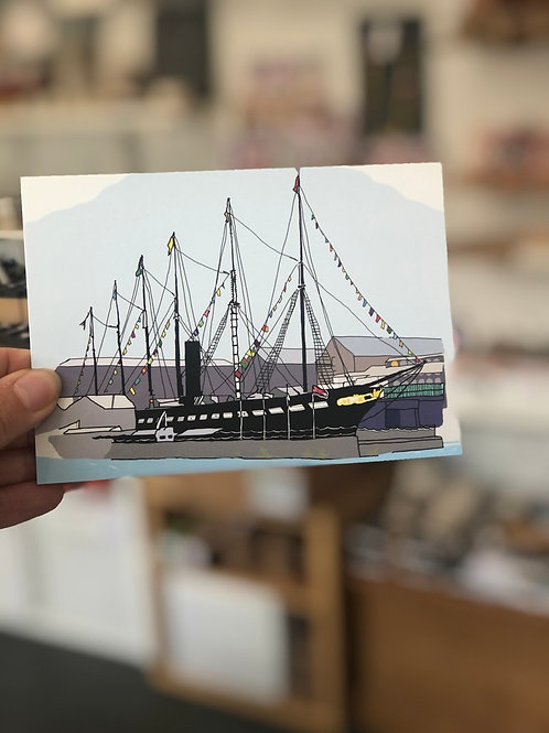 The ss Great Britain Postcard