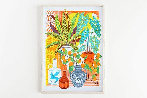 Vessels & Plants Print - A4 & A3 (unframed)