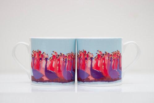 Flamboyance of Flamingos Bone China Mug