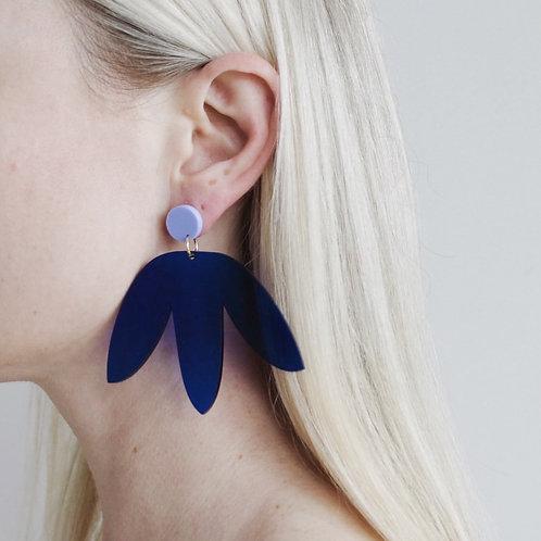 Matisse Statement Earrings - Blue