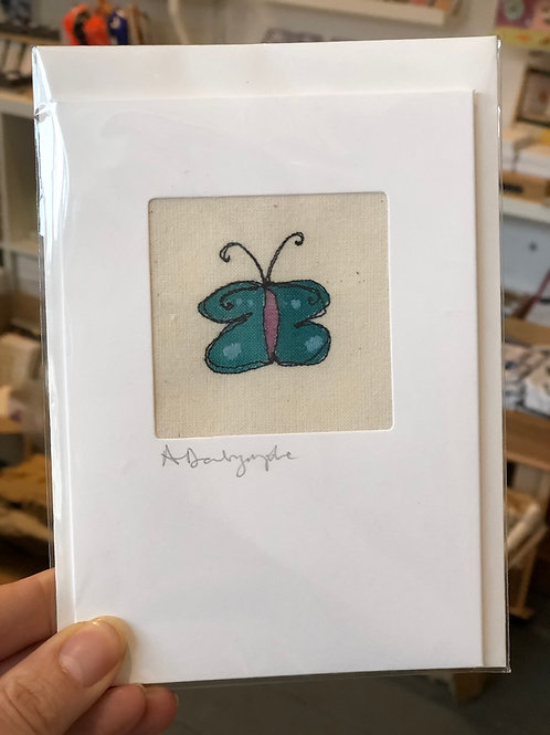 Embroidered Card - Butterfly