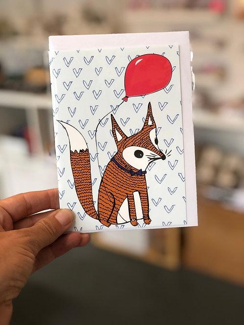 Fox and Balloon Card