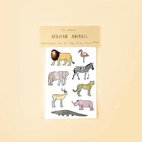 African Animals Sticker Packs