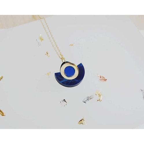 Mini Segmant Pendant cobolt blue/gold gold chain