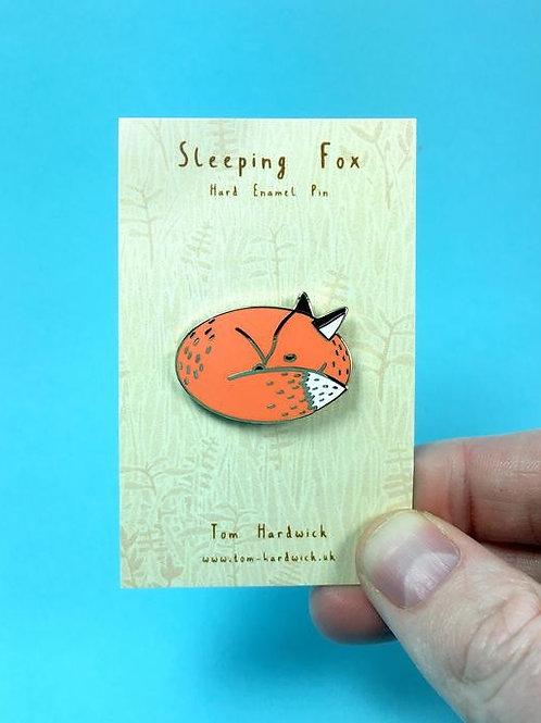 Sleeping Fox Enamel Pin