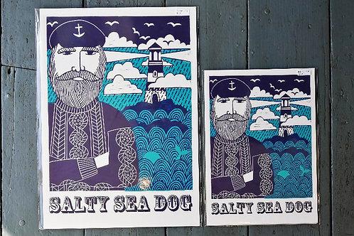 Salty sea dog Print