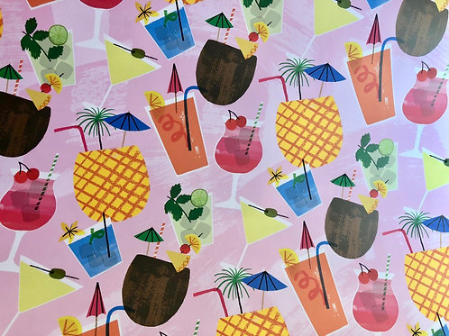 Cocktails Wrapping Paper