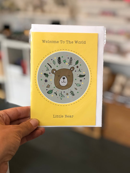 Welcome to the world new baby bear Card
