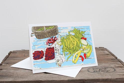 Allotment Vegtables swag Card
