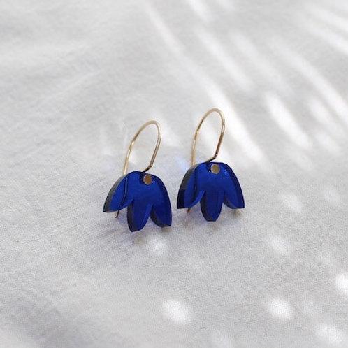 Mini Matisse Hoop Earrings - Blue