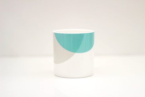 Teal | Grey Dip Bone China Mug