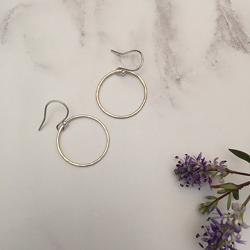 Lace print Sterling Silver ring earrings