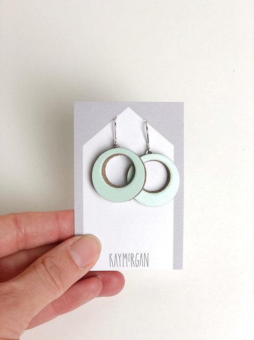 Small Hoop Earrings - Light Green