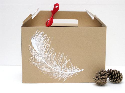 White Feather Gift Box