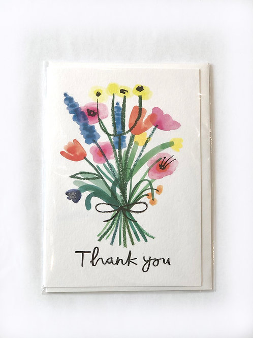 Thank You bunch of flowers card