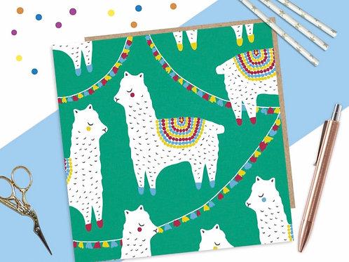 Alpaca Party Card