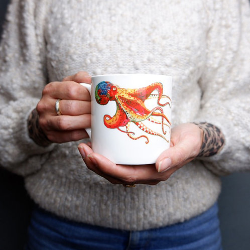 Octopus  Bone China Mug
