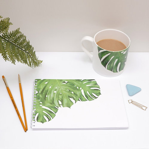 Monstera Cheese Leaf Notebook