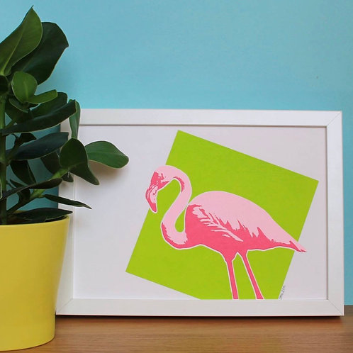 Flamingo A4 Print (Unframed)