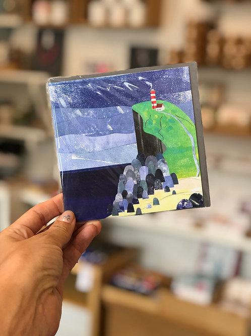 Lighthouse and Cliffs Card