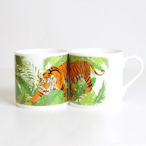 Tiger Bone China Mug