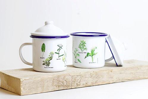 Wild Foods | Enamel Mug With Lid