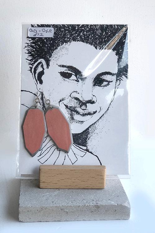 Handmade paper earrings - Light Pink