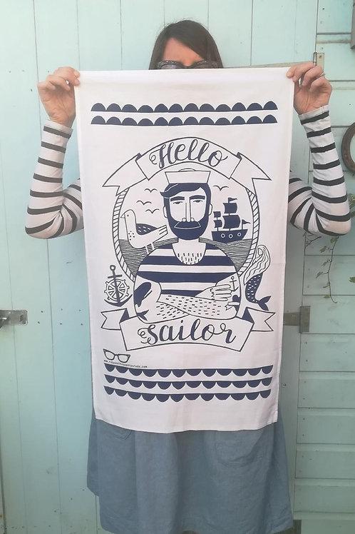 Hello Sailor Tea Towel