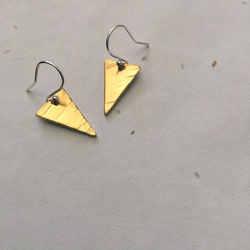 Brass Flag Earrings