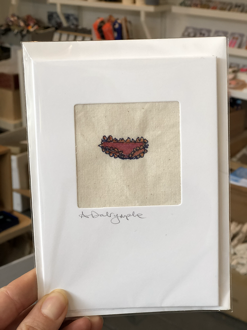 Embroidered Card - Frilly Pants