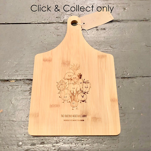 Furious Vegetable bamboo chopping board - Square