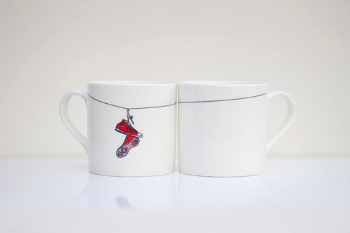 Shoe Laces Bone China Mug