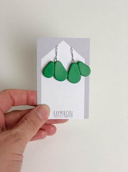 Scallop Earrings -Green