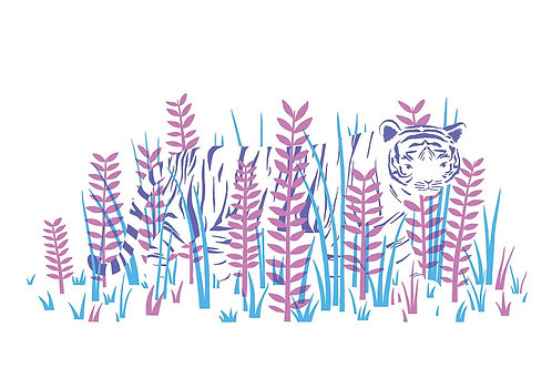 Tiger in the grass Postcard