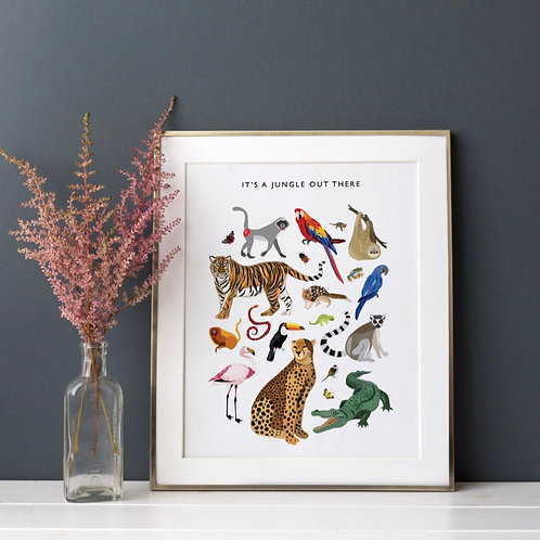 It's a Jungle Out There Print (Unframed)