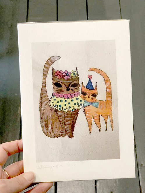 Two Cats Digital Print