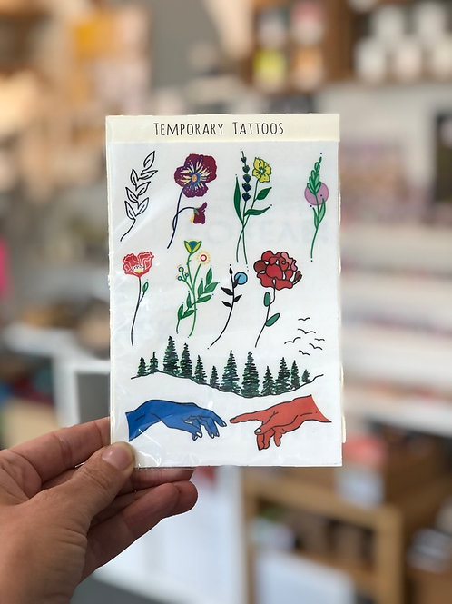 Flower and mixed design Temporary Tattoos