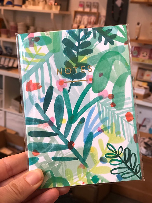 Tropical Leaves A6 Notebook