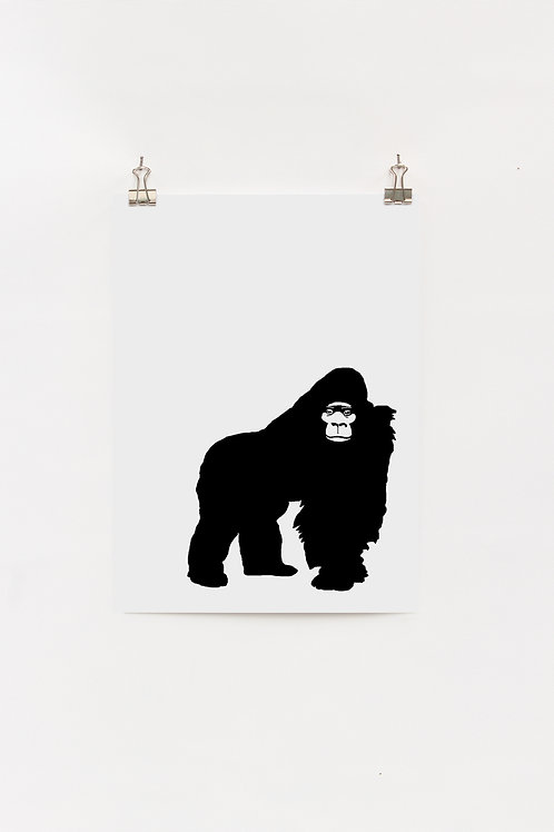 Grumpy Gorilla  |  Digital Print