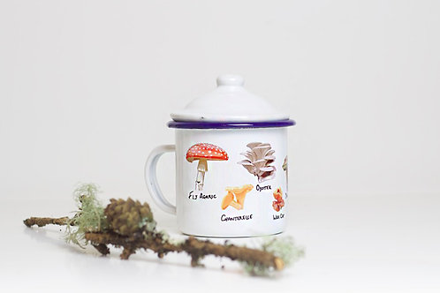 Mushrooms Enamel Mug