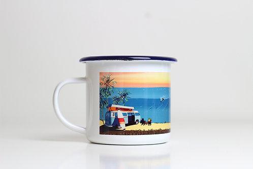 Seconds Surf enamel mug