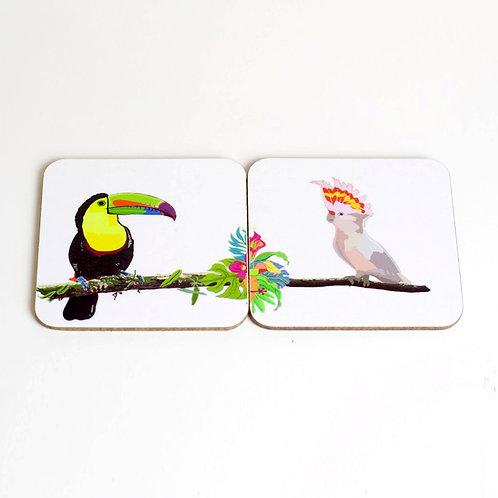 Toucan & Cockatoo Coasters