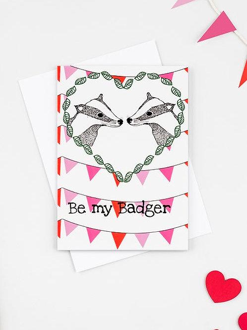 Be my badger card