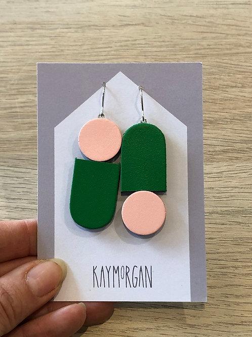 Totem Earrings - Pink/Green