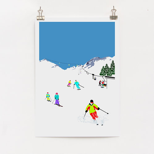 Weekend Explorer - Ski  |  Digital Print