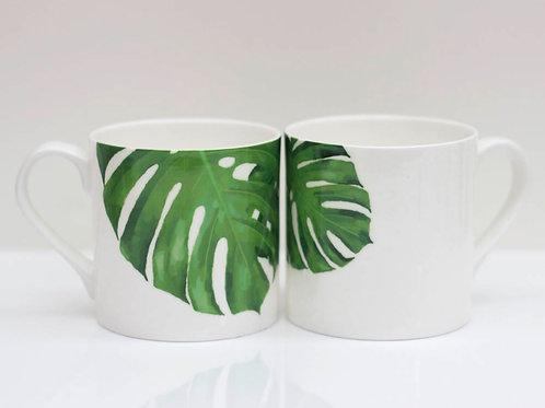 Tropical Cheese leaf Bone China Mug